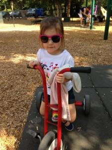 Madi Riding bike